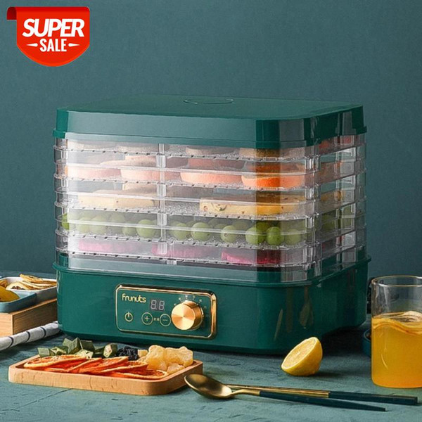 top popular Dried Fruit Vegetables Herb Meat Machine Household MINI Food Dehydrator Pet Meat Dehydrated 5 trays Snacks Air Dryer EU US #9A7p 2021
