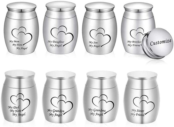 best selling Small Keepsake Urn for Human Ashes,Mini Cremation Urn Small Funeral Jar Stainless Steel Ashes Cremation Funeral Jar-My Dad My Angel