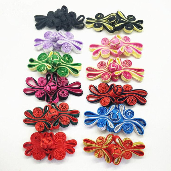 best selling 10Pairs Pack Chinese Double Butterfly Closure Buttons Knot Fastener Cheongsam Tang Suit Traditional Handcraft Sewing Accessories