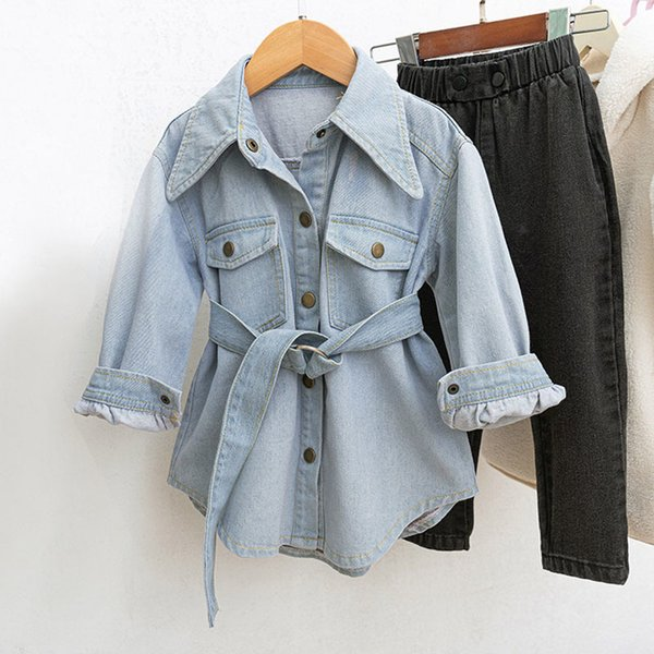 best selling Toddler Kids Girls Denim Jean Fall Jacket Button ChildrenCoat Outwear Girls Tops Outwear 2-7Y Dropshipp Q1123