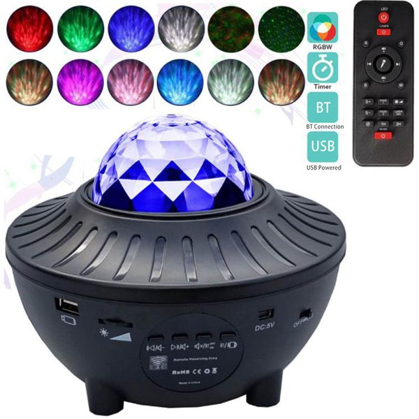 best selling 2021 New Led Star Light Galaxy Starry Night Ocean Wave Projector with Music Blueteeth Speaker Remote Control for Kid Lioz