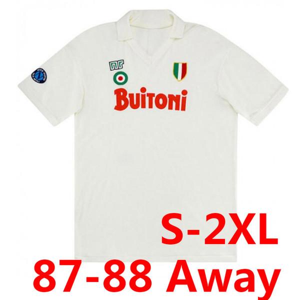 Retro 87-88 Napoli weg weiß