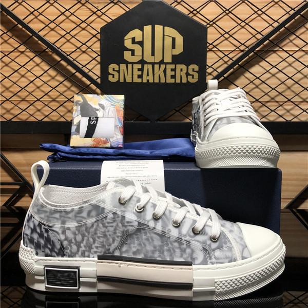 top popular top quality b 23 oblique technology canvas trainers sneakers luxurys designers shoes men women fashion pairs outdoor platform casual shoes 2021