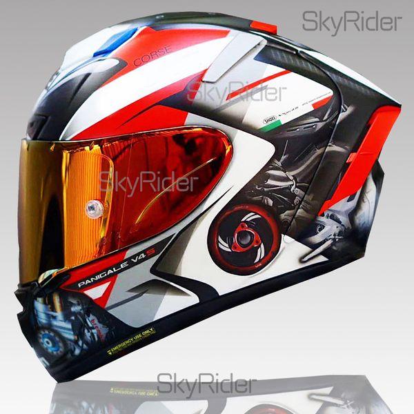 best selling Full Face shoei X14 ducadiii generatio Motorcycle Helmet anti-fog visor Man Riding Car motocross racing motorbike helmet-NOT-ORIGINAL-helmet