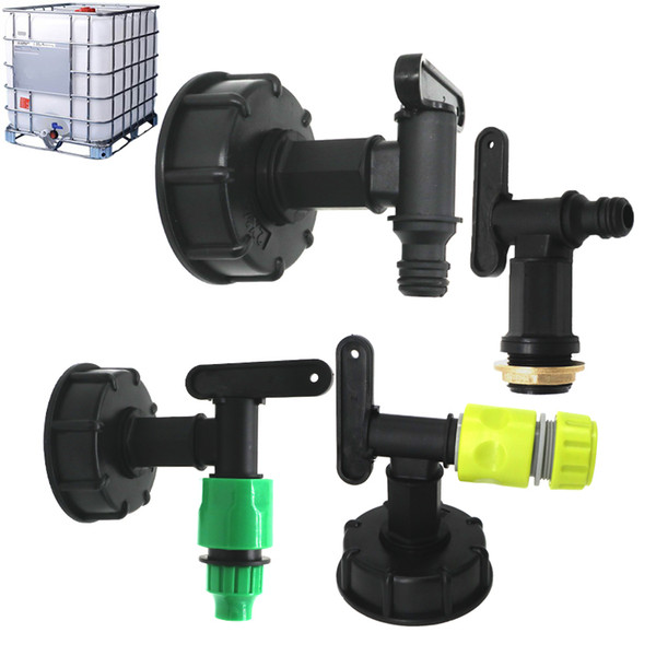"best selling Water Tank Hose Garden Yard Adapter Fittings With Switch garden hose fitting1000L IBC butress female to 1 2"" (15mm )switch adaptor tap"