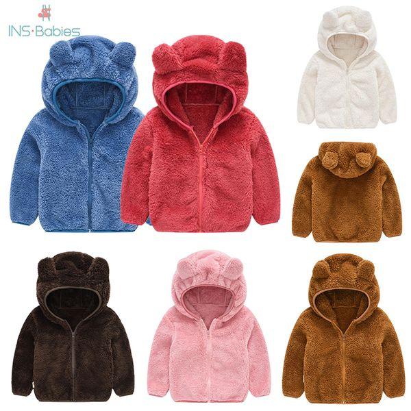 top popular Baby Boys Jacket Autumn Jackets For girls Coat Kids Outerwear Cartoon Bear Coats For baby Clothes Children Hoodies Jacket Q1123 2020