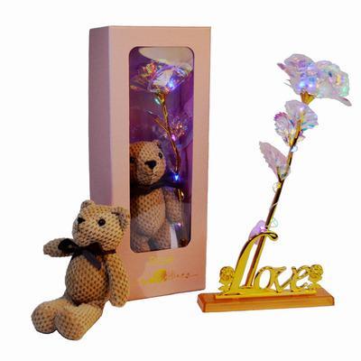 #6Rose + bear + gift box + love