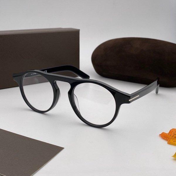 lentille transparent de cadre noir