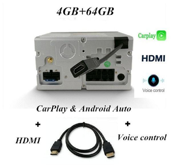 Carplay Voice Control HDMI와 64GB
