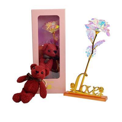 #5Rose + bear + gift box + love
