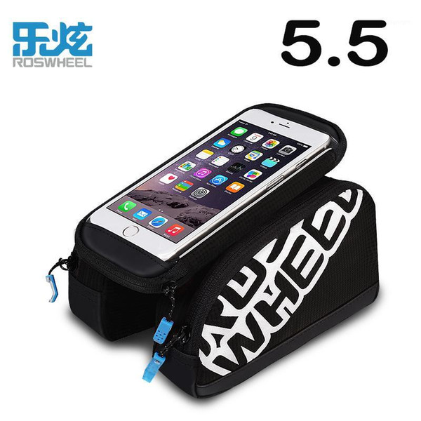 """best selling Cycling Bags ROSWHEEL Tube Bag Front Bicycle Phone Holder For 5.7"""" Cell Bike Folding Frame1"""