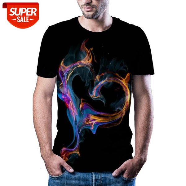 best selling New T-shirt men's high-quality men's T-shirt short sleeve 3D abyss character printing fashion handsome #6s7E
