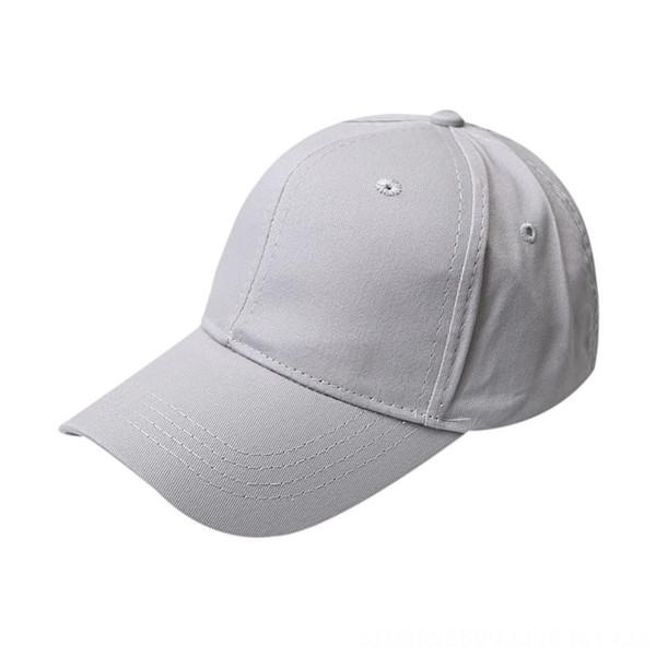 Cápsula de béisbol de cola de caballo algodón - gris