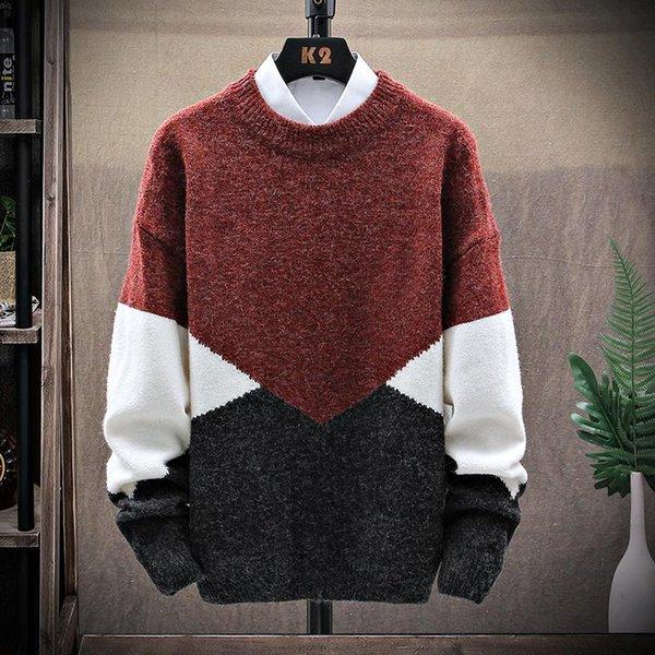 Hombres de suéter rojo