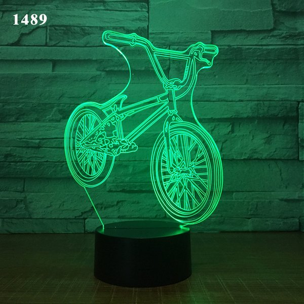 top popular Car Acrylic 3D Hologram Lamp 7 Color Change Night Light Baby Touch Switch Colored lights LED USB Desk lamp Atmosphere lamp D30 2021