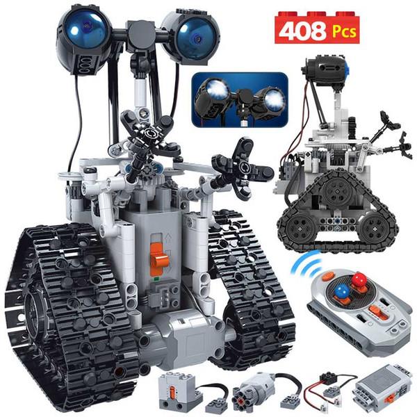 best selling RC Robot Electric Building Blocks Technic Remote Control Intelligent Robot Bricks Toys For Children 408PCS City Creative