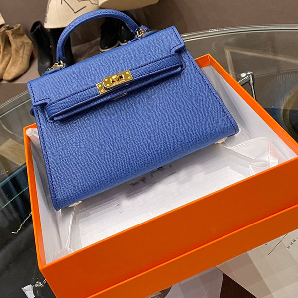 Women Handbags Purse Birkin Mini Package Tote Bags Epsom Designers Genuine Leather Fashion letter Hardware Plain Hasp Shoulder Bags Wallet