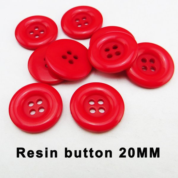 top popular 200PCS 20MM RED SWEATER buttons decoration coat boots sewing clothes accessory shirt GARMENT button r-345 2021