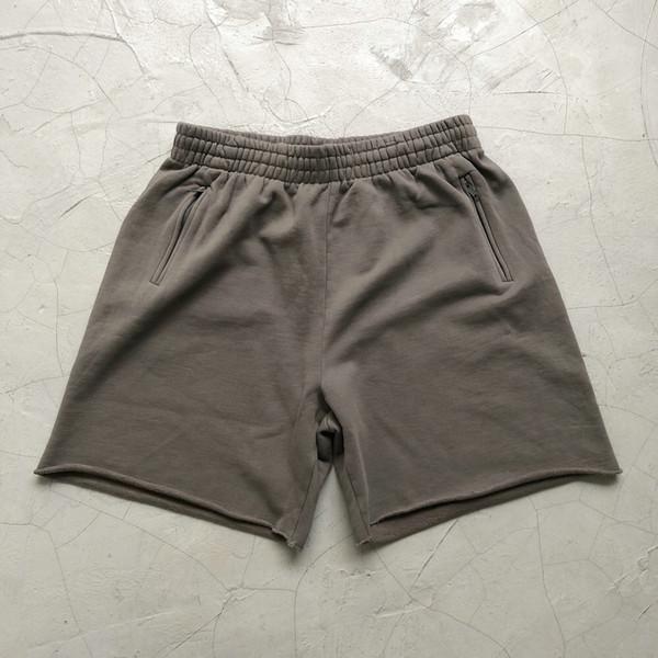 Shorts cinzentos lavados