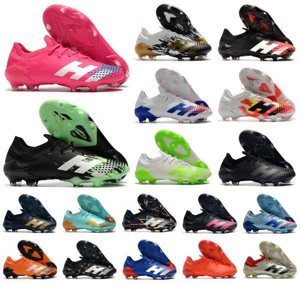 top popular Hot 2020 Predator Mutator 20.1 Low FG Signal Green InFlight PP Paul Pogba Mens Boys Soccer Football Shoes 20+x Cleats Boots US6.5-11 2020