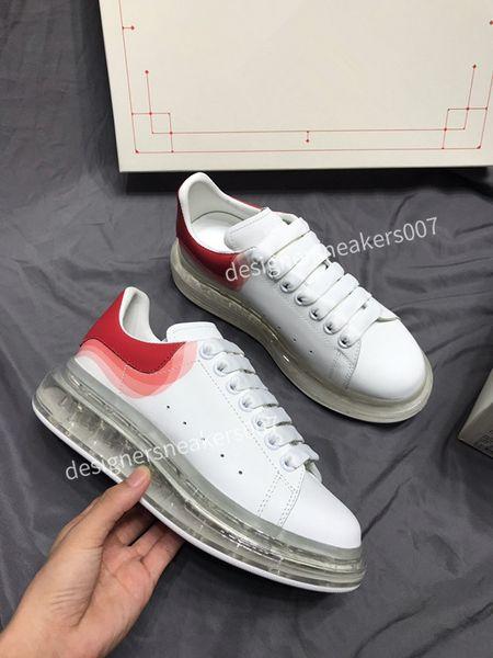 2021top new Men Shoes Fashion Women Shoes Men's Leather Lace Up Platform Oversized Sole Sneakers White Black Casual Shoes gp190801