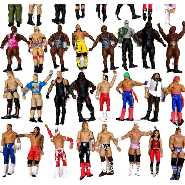 top popular 18cm High quality wrestler action figure toy characters occupation wrestling gladiators for Children boy brithday christmas gifts 2021