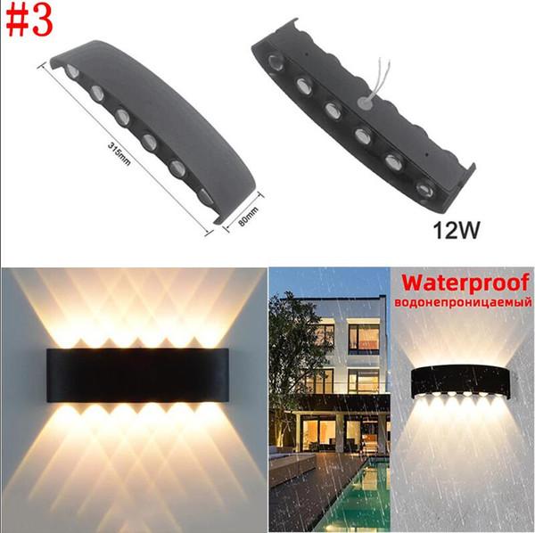 # 3 12W водонепроницаемый светильник стены