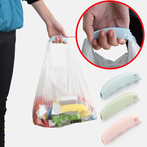 top popular 1PC Portable Silicone Shopping Bag Protect Hands Trip Grocery Bag Holder Handle Carrier Lock Home Kitchen Bathroom Accessories DHL Free 2021