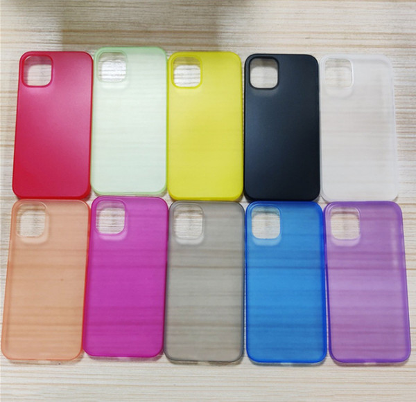 top popular 0.3mm Ultra-Thin Matte PP Phone Case Frosted Full Coveraged Transparent Flexible Cover For iPhone 12 mini 11 Pro Max X XS XR 8 7 6 Plus 2021