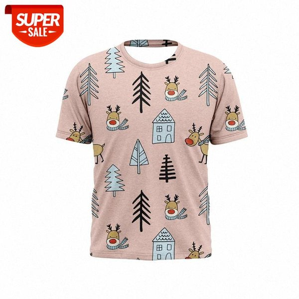 best selling 2021 new 3D printed men's t-shirts Christmas cartoon pattern holiday handsome T-shirts for boys and girls #l90b