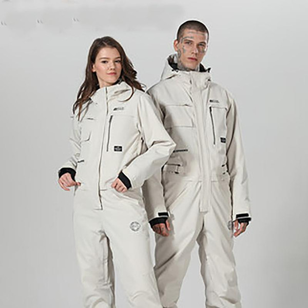 top popular 2020 New Waterproof Snowboarding One Piece Skiing Jumpsuit Snowboard -30 Degrees Snow Ski Suit Winter Clothing Coverall 2021