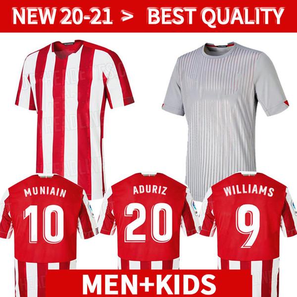 2020 2021 bilbao soccer jerseys WILLIAMS MUNIAIN ADURIZ kids soccer kits 20 21 I.MARTINEZ football shirts kids camisa de futebol