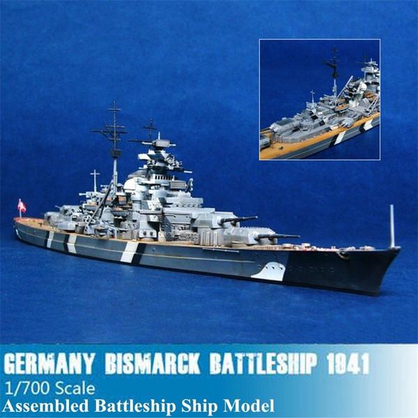 top popular 1 700 Scale the World War II Germany Navy Battleship KMS Bismarck Battleship Ship Model Kit Ship Toy Manual Model Assembly Toy Y200428 2021