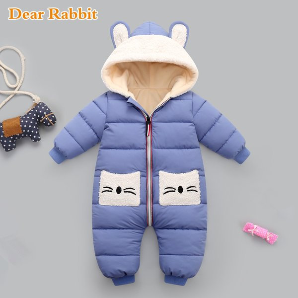 top popular New born Baby girl coat Winter Hooded mantle Rompers Thick Warm Jumpsuit Overalls Snowsuit Children Boy Clothing kids clothes Q1123 2020