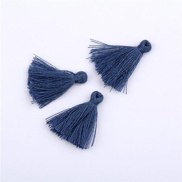 Borlas azul oscuro