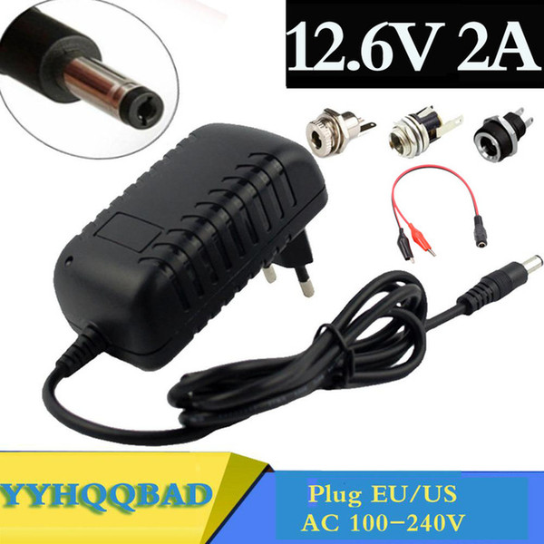Cheap Chargers 12.6V 2A 18650 Lithium Charger For 12V 3Series Li-ion Battery Polymer Smart Charger 18650 Battery Pack 5.5mm x 2.1mm DC