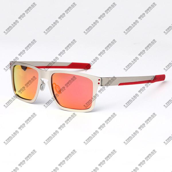 silver frame red lens