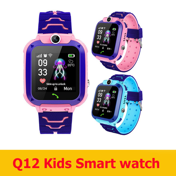 best selling 2020 Newest Q12 Kids smart watch bracelet child LBS Located smartwatch Q12 with waterproof retail box for kids outdoor play game
