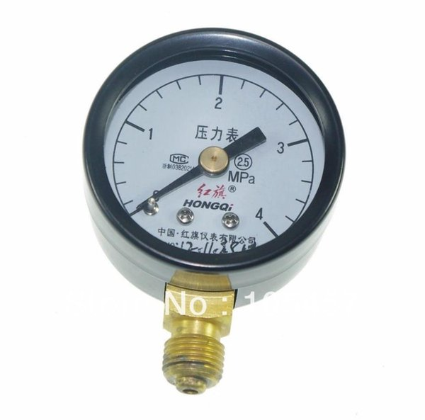 top popular Water Oil Hydraulic Air Pressure Gauge Universal Gauge M10*1 40mm Dia 0-4Mpa order<$18no track 2020