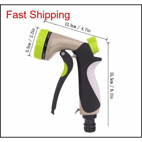 top popular Garden Hose Nozzle Hand Sprayer 8 Pattern Adjustable Heavy Duty Metal Slip Resistant jllVXs insyard 2021