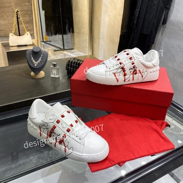 2021new Mans Casual Shoes Fashion Mens Women Leather Breathable Shoes Open Low sports Sneakers yh200905