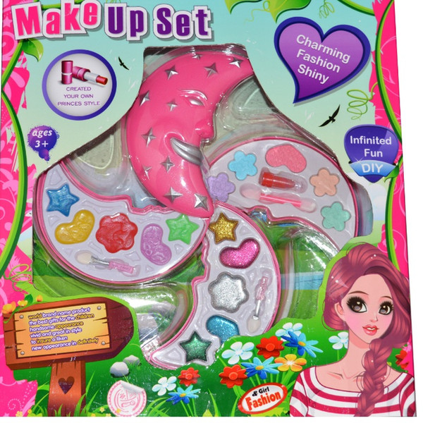 best selling Girl Fashion Diy Beauty Set Toy Chemical Free Kid Cosmetic False Nail Pretend Play Make Up