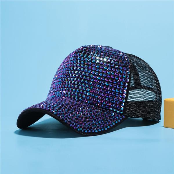 Schwarz + lila Diamant-Net-Kappe