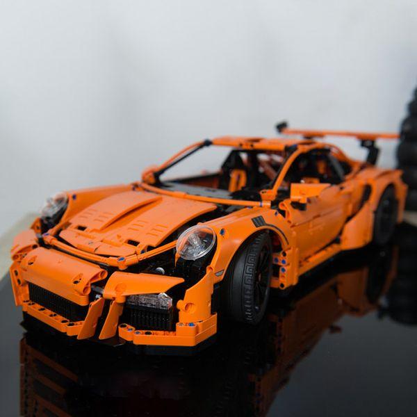 top popular 20001 2704pcs Technology Series 911 Supercar Racing car Building Building Blocks Bricks Toys Comptible 42056 2021