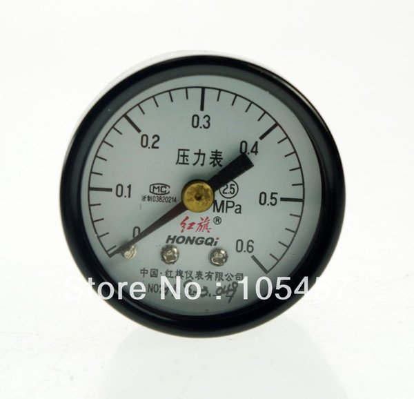 top popular Water Oil Hydraulic Air Pressure Gauge Universal Gauge M10*1 40mm Dia 0-0.6Mpa order<$18no track 2020