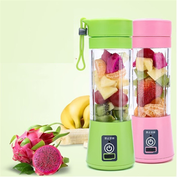 top popular Portable Electric Fruit Juicer Cup Vegetable Citrus Blender Juice Extractor Ice Crusher with USB Connector Rechargeable Juice Extractor 2021