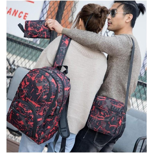 top popular 2021 Hot outdoor bags camouflage travel backpack computer bag Oxford Brake chain middle school student bag many colors Mix 2021