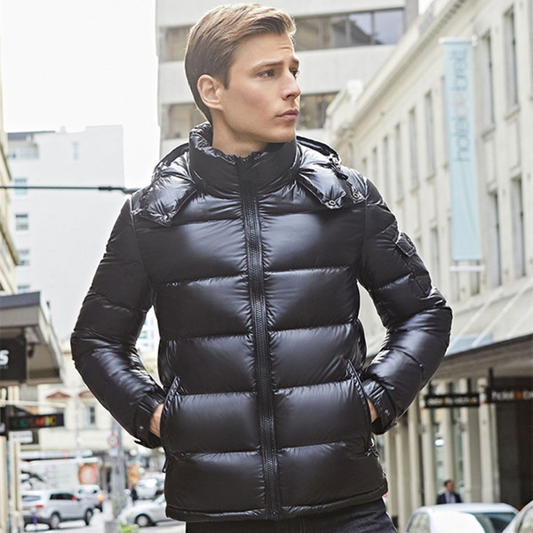 top popular Mens Jacket down Parkas Classic Casual winter Coats Outdoor Feather Keep warm Doudoune Homme Unisex Coat Outerwear Hooded Cold protection Windproof 2021