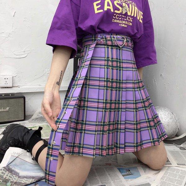 Falda plisada del cinturón