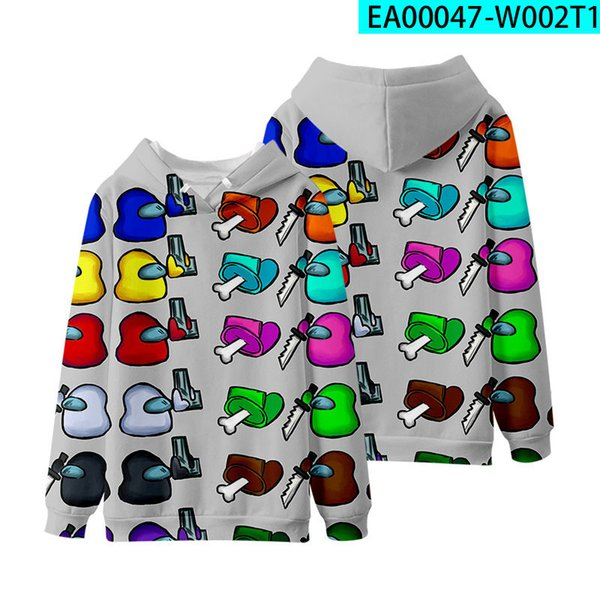 top popular Hot sell Among Us Games Printed Cartoon Hoodies For Children Adults Sweatshirts Crewmates Imposter Pullover Shirts Plus Size FS9809 2021